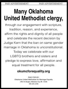 Many Oklahoma United Methodist Clergy