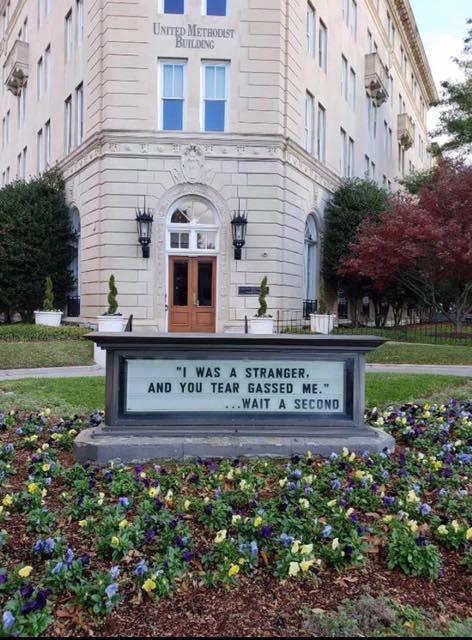 United Methodist Building Tear Gas